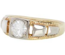 Vintage Two Tone Gold Diamond Ring