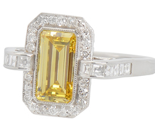 Art Deco Sunshine - Smashing Diamond Ring