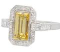 Art Deco Sunshine - Smashing Diamond Ring