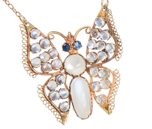 Flight of Fancy - Moonstone Butterfly Necklace