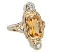 Nature's Honey - Citrine Diamond Ring