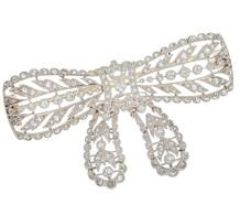 Edwardian Surprise - Diamond Bow Brooch
