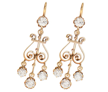 Edwardian Girandole Diamond Earrings