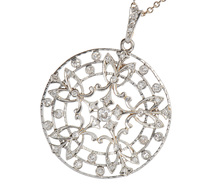Diamond Pendant in the Round c. 1920