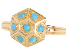 Classical Revival Turquoise Ring