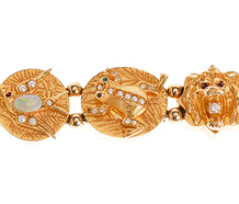 Golden Menagerie Slide Bracelet