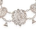 Renaissance Revival Silver Festoon Necklace