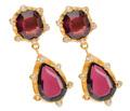 Artful Vintage Garnet Gold Earrings