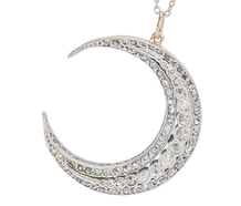 Waxing Goddess - Diamond Crescent Moon Pendant