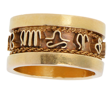 Signs of the Times - 18k Zodiac Ring