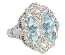 Jones & Woodland Aquamarine Diamond Ring