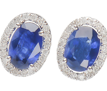 My Blue Heaven - Sapphire Diamond Earrings