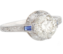 Contentment - Diamond Sapphire Ring