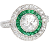Romancing the Stone - Diamond Emerald Ring