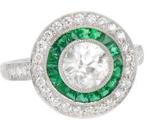 Romancing the Stone - Diamond Emerald Ring