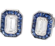 Chic Diamond Sapphire Earrings