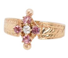 Victorian Spring Awakening - Garnet Ring
