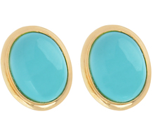 Dots of Color - Turquoise Stud Earrings