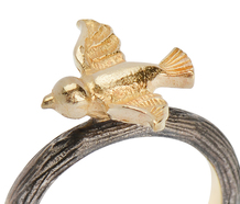 Tweets in Flight - Bird Motif Ring