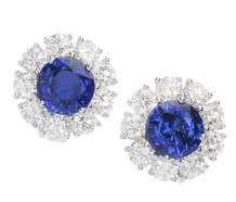 Indigo Wishes - Diamond Sapphire Earrings