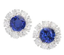 Indigo Wishes - Diamond Sapphire Earrings