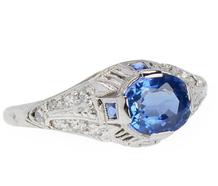 Edwardian Ceylon Sapphire Diamond Ring