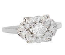 Petal Pleasure - Vintage Diamond Ring