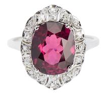 Elysian Realms - Rhodolite Garnet Diamond Ring