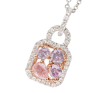 Pink Diamond Pendant Necklace