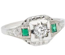 Emerald Desire - Vintage Diamond Ring