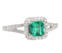 Emerald City - Diamond Emerald Ring