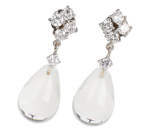 Sway - Diamond Rock Crystal Earrings
