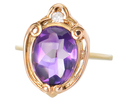 Striking Amethyst Diamond Ring