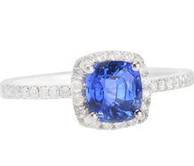 Bluer than Blue - Sapphire Diamond Ring