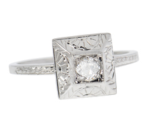 Sun Worshiper - Art Deco Diamond Ring