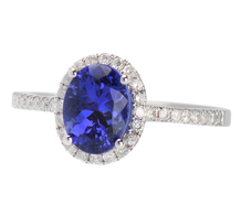 Regal Tanzanite Diamond Ring