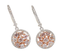 Wheel of Fortune - Pink Diamond Earrings