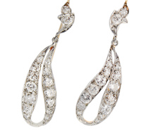 Sensual Sway - Diamond Ribbon Earrings