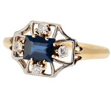 Linear Design - Sapphire Diamond Ring