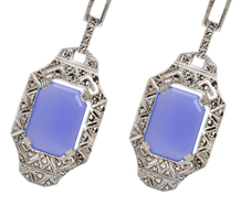 Art Deco Vintage Chalcedony Earrings