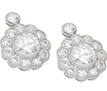 Spring Fever - Diamond Platinum Earrings