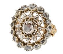 Rose Cut Rondel - Georgian Diamond Ring