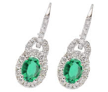 Renewal - Emerald Diamond Earrings