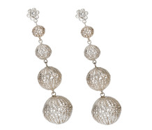 Lighter Than Air - Silver Filigree Earrings