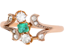 Edwardian Emerald Diamond Ring