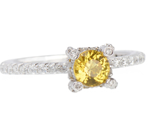 Sun Kissed Diamond Yellow Sapphire Ring