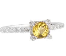 Sun Kissed Diamond Yellow Sapphire Ring