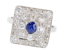 Bewitched - Sapphire Diamond Ring