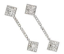 Evening Allure - Diamond Drop Earrings