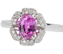 Blushing Bouquet - Pink Sapphire Diamond Ring